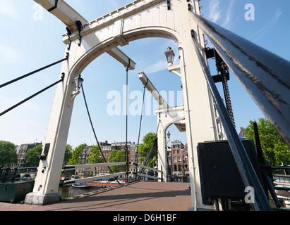 Amsterdam, The Netherlands, Ziehbruecke Skinny Bridge - Stock Photo