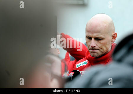 Cologne's head coach Stale Solbakken is pictured during a training session in Cologne, Germany, 29 February 2012. - Stock Photo