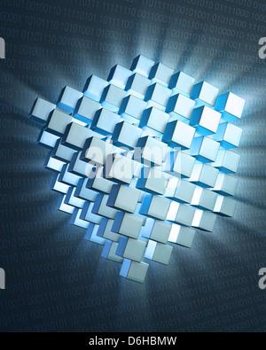 Quantum computing, conceptual artwork - Stock Photo