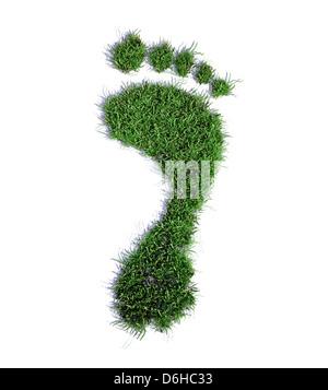 Ecological footprint, conceptual artwork - Stock Photo