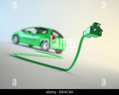 Electric car, artwork - Stock Photo