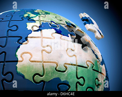 Solution to global issues, artwork - Stock Photo