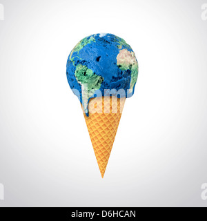 Global warming, conceptual artwork