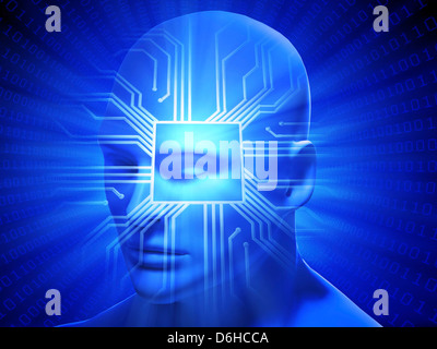 Artificial intelligence, conceptual image - Stock Photo