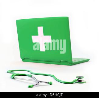 Online diagnosis, conceptual artwork - Stock Photo