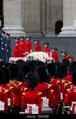 Funeral Of Margaret Thatcher at St Paul's Cathedral April 17th 2013 - Stock Photo