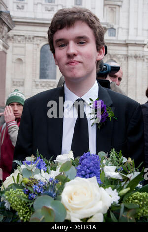 Funeral guest at the funeral of Baroness Thatcher held at St. Paul's Cathedral, London, UK on 17th April 2013. Margaret - Stock Photo