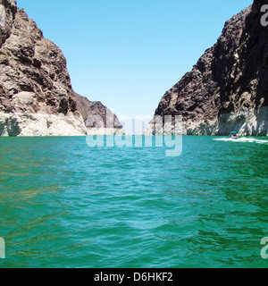 Lake Mead is the 16th largest man-made lake in the world in Las vegas Nevada - Stock Photo