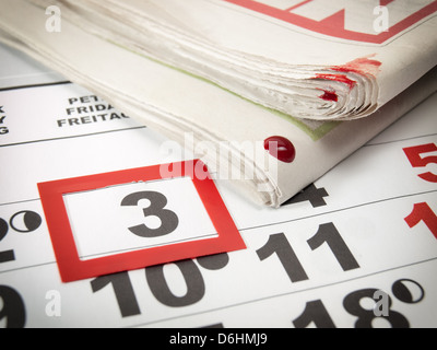 Conceptual image about an international holiday known as World press Day. - Stock Photo