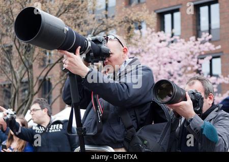 Paparazzi Photographers London UK - Stock Photo