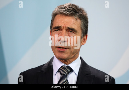 Berlin, Germany, Anders Fogh Rasmussen, Secretary General of NATO - Stock Photo