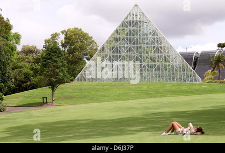 Tropical Centre in the Royal Botanic Gardens of Sydney - Stock Photo