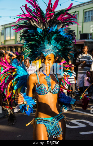 Carnival in Basseterre, St. Kitts, St. Kitts and Nevis, Leeward Islands, West Indies, Caribbean, Central America - Stock Photo