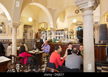 Bar Giralda (Calle Mateos Gago 1) set in Moorish bathouse, Seville, Andalucia, Spain, Europe - Stock Photo