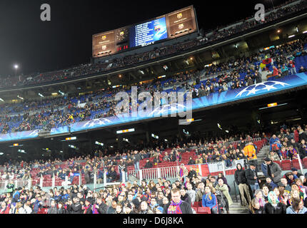 General view of stadium prior to the Champions League round of sixteen second leg soccer match between FC Barcelona - Stock Photo