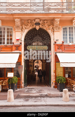 Galerie Vivienne in central Paris, France, Europe - Stock Photo