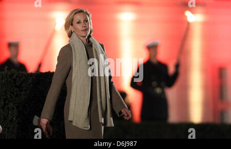 Bettina Wulff, wife od former German President Christian Wulff, arrives in front of Bellevue Palace for the Grand - Stock Photo