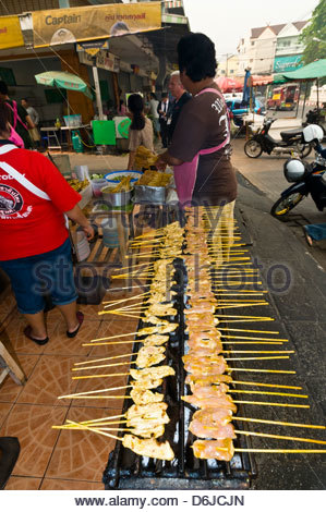 Street food vendors, Chiang Mai, Northern Thailand - Stock Photo