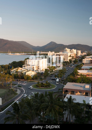 Waterfront and view towards city centre from south, Cairns, North Queensland, Australia, Pacific - Stock Photo