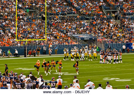 Denver Broncos vs. Pittsburgh Steelers NFL football game, Sports Authority Field at Mile High (stadium), Denver, - Stock Photo