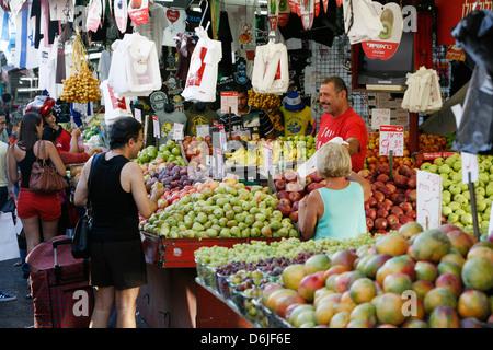 Shuk HaCarmel market, Tel Aviv, Israel, Middle East - Stock Photo