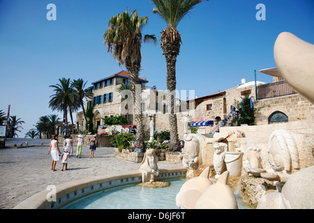 Kdumim Square in Old Jaffa, Tel Aviv, Israel, Middle East - Stock Photo