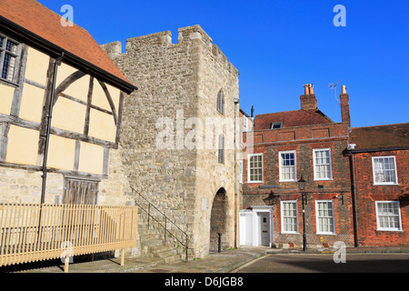 Westgate in Old Town Walls, Southampton, Hampshire, England, United Kingdom, Europe - Stock Photo