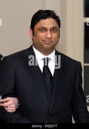 Rajiv Kumar Fernando,CEO of Chopper Trading, arrives for the Official Dinner in honor of Prime Minister David Cameron - Stock Photo