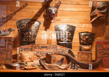 First Nation's artifacts at the Museum of Northern British Columbia, Prince Rupert, British Columbia, Canada, North - Stock Photo