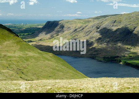 Wast Water, Wasdale, Lake District, with Sellafield Nuclear power station in the background - Stock Photo