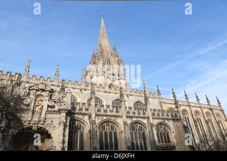 University Church of St. Mary the Virgin, Oxford, Oxfordshire, England, United Kingdom, Europe - Stock Photo