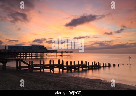 Aberystwyth Pier, Ceredigion, West Wales, United Kingdom, Europe - Stock Photo