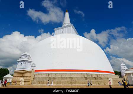 Ruvanvelisaya Dagoba, Anuradhapura, UNESCO World Heritage Site, North Central Province, Sri Lanka, Asia - Stock Photo