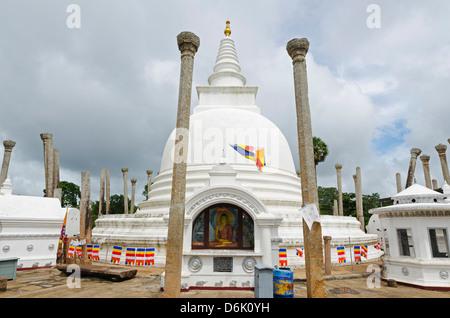 Thuparama Dagoba, Anuradhapura, UNESCO World Heritage Site, North Central Province, Sri Lanka, Asia - Stock Photo