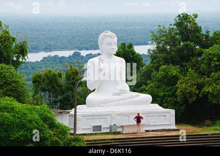 The Great seated Buddha at Mihintale, Sri Lanka, Asia - Stock Photo