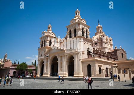 Iglesia Catedral at Plaza San Martin, Cordoba City, Cordoba Province, Argentina, South America, South America - Stock Photo