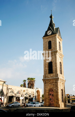 The Clock Tower in Old Jaffa, Tel Aviv, Israel, Middle East - Stock Photo