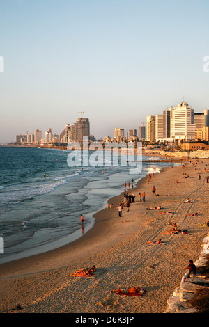 Beach, Tel Aviv, Israel, Middle East - Stock Photo