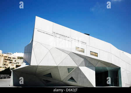 The new wing of Tel Aviv Museum of Arts, Israel, Middle East - Stock Photo