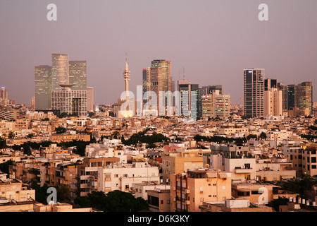 View over the skyline of Tel Aviv, Israel, Middle East - Stock Photo