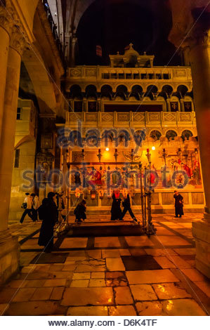 Church of the Holy Sepulchre, the Christian Quarter, Old City, Jerusalem, Israel. - Stock Photo