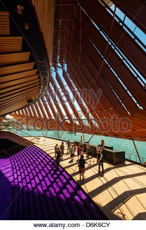 Interior view, Sydney Opera House, Bennelong Point, Sydney, New South Wales, Australia - Stock Photo