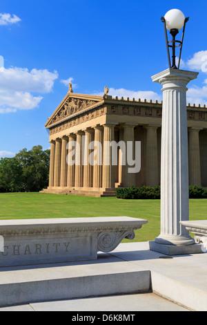 Parthenon in Centennial Park, Nashville, Tennessee, United States of America, North America Stock Photo