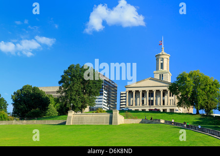 Bicentennial Capitol Mall State Park and Capitol Building, Nashville, Tennessee, United States of America, North - Stock Photo