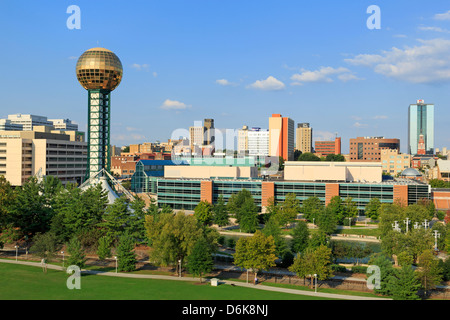Sunsphere in World's Fair Park, Knoxville, Tennessee, United States of America, North America - Stock Photo
