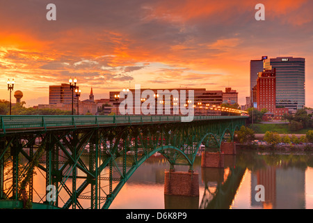 Gay Street Bridge and Tennessee River, Knoxville, Tennessee, United States of America, North America - Stock Photo
