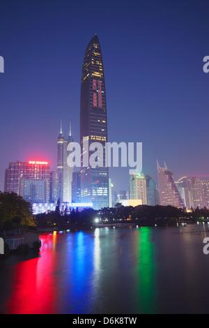 Kingkey 100 Finance Building, Shenzhen, Guangdong, China, Asia - Stock Photo