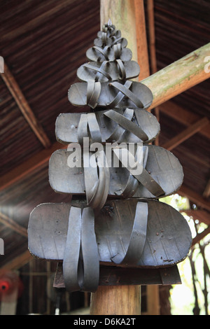 Rubber sandals made from tyres, Cu Chi Tunnels, Ho Chi Minh City (Saigon), Vietnam, Indochina, Southeast Asia, Asia - Stock Photo