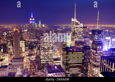 New York City viewed from above. - Stock Photo