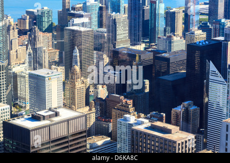 Skyscrapers in Downtown Chicago, Illinois, United States of America, North America - Stock Photo